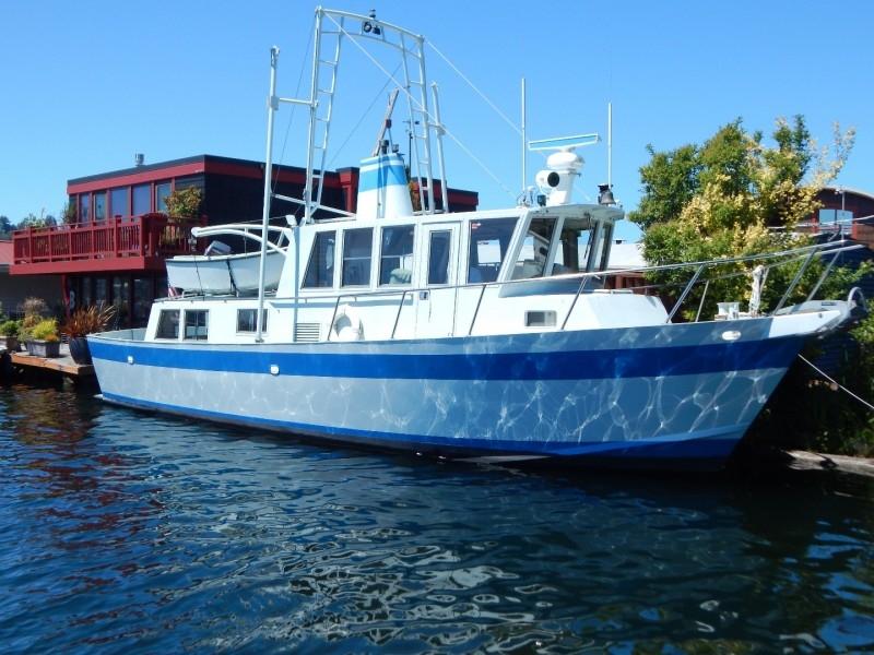 1990 Custom 41 Aluminum Trawler