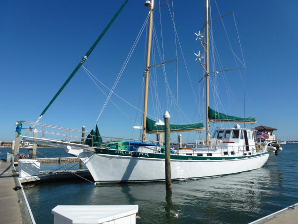 1988 Custom Steel Pilothouse Schooner 56