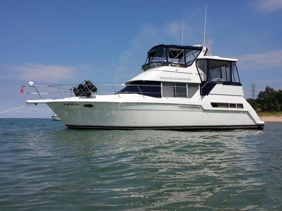 Carver 355 aft cabin motor yacht boats for sale for Carver aft cabin motor yacht
