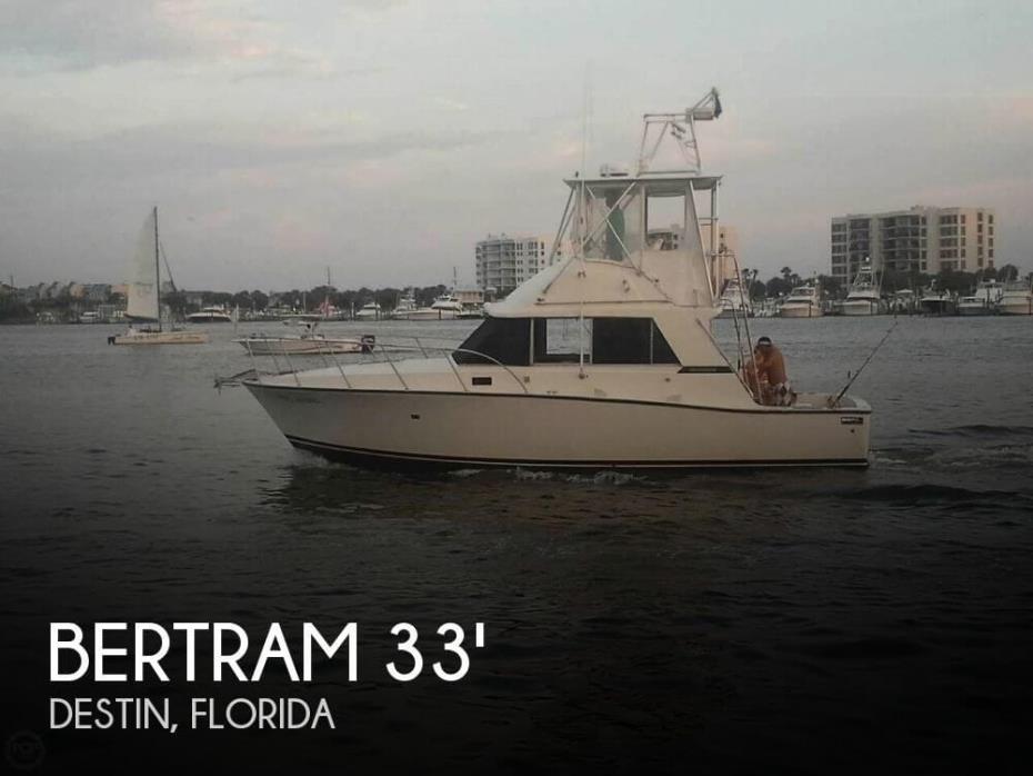 1980 Bertram 33 Flybridge Cruiser