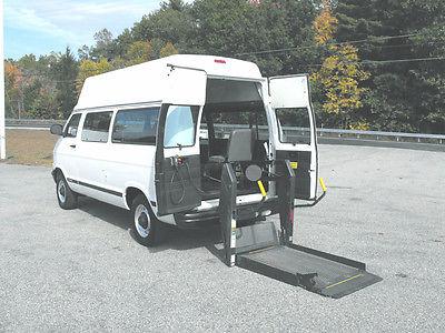 Dodge : Ram Van 3500 Series 2002 dodge ram 3500 rear entry handicap wheelchair van 76 000 mi