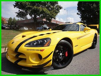 Dodge : Viper SRT10 ACR RACE YELLOW 3K MI VERY RARE MANY MODS 8.4 l short shifter carbon fiber dash steering wheel corsa exhaust 1 owner rare