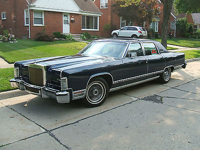 Lincoln : Town Car Collector's Series 1979 lincoln collector s series town car low low miles beautiful