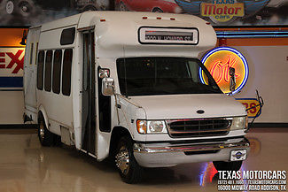 Ford : Other 2002 ford econoline commercial cutaway 7.3 l diesel 20 passenger chair lift