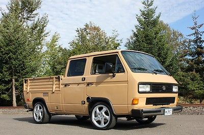 Volkswagen : Bus/Vanagon Double Cab Doka Transporter T3 1985 canadian volkswagen vw t 3 transporter double cab doka 2.1 liter auto 2 wd