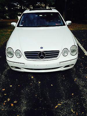 Mercedes-Benz : CL-Class CL500 2001 mercedes benz cl 500 coupe white exterior gray interior
