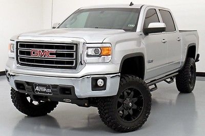 GMC : Sierra 1500 SLE 4WD Lifted 14 Sierra SLE 6in Pro Comp Lift Kit Leather 35in TOYO Tires Navigation