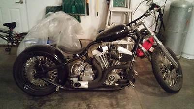 Custom Built Motorcycles : Chopper 2013 black twisted chopper custom motorcycle 630 miles 250 rear tire