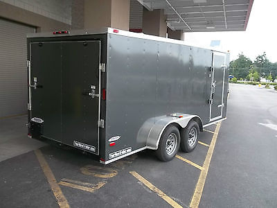 2015 Five Star Cargo Enclosed Trailer 7 x 16 Plus V-Nose, Rear Ramp,Side Doors