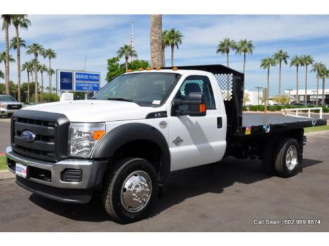 Ford : Other Pickups XL Flatbed New F550 Regular Cab DRW 2WD XL Power Equipment 12' Monroe Flatbed Stakeside