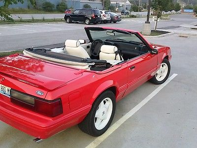 Ford : Mustang LX CONVERTABLE  1992 ford mustang lx convertible 2 door 5.0 l