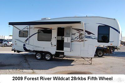 2009 Forest River Wildcat 28RKBS Fifth Wheel Camper Rv Travel Trailer Used