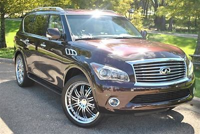 Infiniti : QX56 2WD 4dr 7-passenger 2 wd 4 dr 7 passenger low miles suv automatic gasoline 5.6 l 8 cyl dark currant