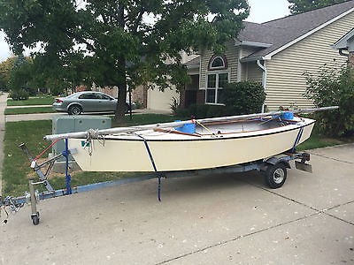 1970 Blue Jay Sailboat w/ Trailer - Newer sails, new wheels, new cover