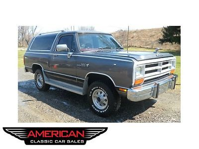 Dodge : Ramcharger Base 89 low mileage owned by hank williams jr and hank iii very well kept in florida