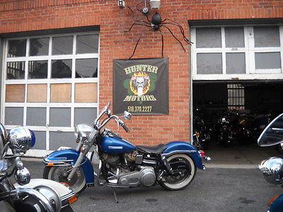 Harley-Davidson : Touring 1977 harley davidson amf flh shovel head factory paint unrestored matching s