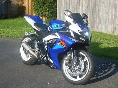 Suzuki : GSX-R 2007 suzuki gsxr 750 blue white