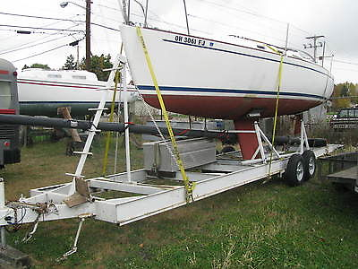 1984 freedom 25 sail boat--yanmar diesel--WITH CUSTOM TRAILER