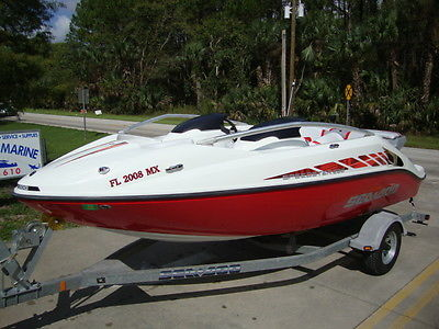 NICE- 2005 SEA DOO SPEEDSTER 200 JET BOAT PACKING TWIN 4-TECS WITH 105 HOURS SKI