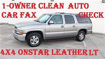 Chevrolet : Suburban AWD  4X4 LT AWD 4X4 CLEAN CARFAX 1-OWNER HEATED SEATS  LEATHER ONSTAR LOW SHIPPING