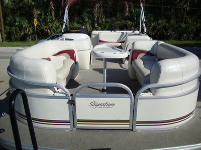 CLEAN 2011 SUN TRACKER PARTY BARGE 21 FAMILY PONTOON BOAT 60 HP MERCURY 4-STROKE