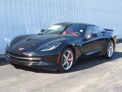 Chevrolet : Corvette Stingray 3LT Corvette Stingray 3LT Coupe Black w/ Adrenaline Red Leather Interior - Automatic