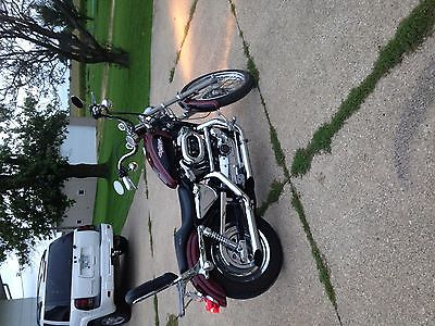 Harley-Davidson : Sportster Maroon and black Sporster 1200 custom XL.  2000