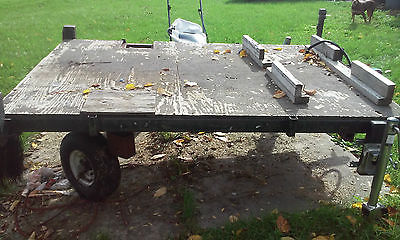 Double Hitch Swivel Wheel Trailer 5' x 8' vehicle frame extension