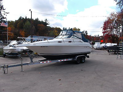 1997 SEARAY 250 SUNDANCER 5.7 MERCURSIER BRAVO 3 DRIVE S/S PROPS NEWER TRAILER