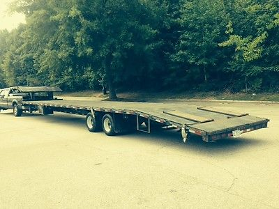 2008 45 FOOT DECKOVER GOOSENECK 5TH WHEEL TRAILER