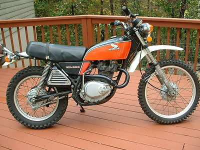 Honda : Other 1976 honda xl 350 street legal enduro dual sport ahrma clean title