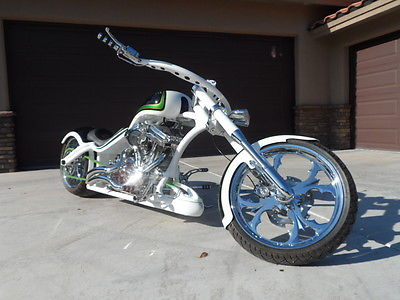 Custom Built Motorcycles : Chopper 2015 game changer customs sickasso twisted rigid frame total custom rolling art
