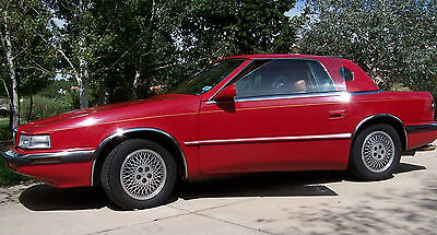 Chrysler : Other convertible 2-door 1989 chrysler tc by maserati red convertible sports car
