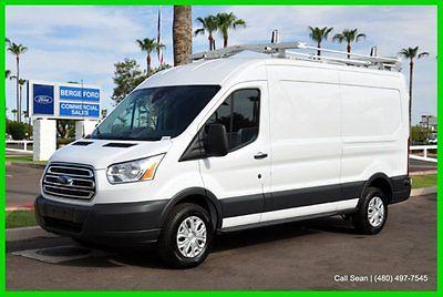Ford : Other Base Standard Cargo Van 3-Door 2015 transit 250 med roof 3.7 l v 6 rwd kargo master ladder rack and bin package