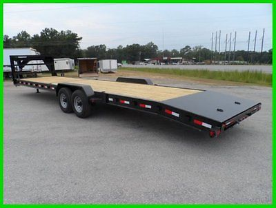 34 car hauler equipment utility trailer 2/3 wood deck gooseneck I beam Frame NEW