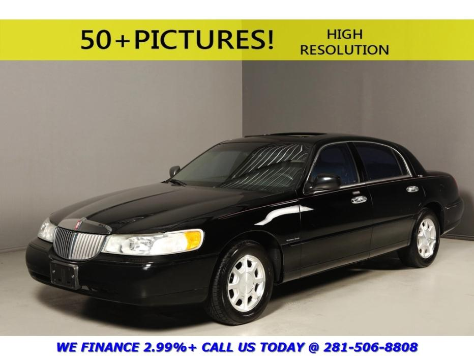 Lincoln : Town Car 2002 TOWNCAR SIGNATURE SUNROOF LEATHER WOOD 2002 lincoln town car signature sunroof leather wood pwr seats auto black