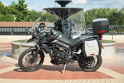 Triumph : Tiger 2014 triumph tiger 800 xc abs matte khaki green motorcycle arrow exhaust more