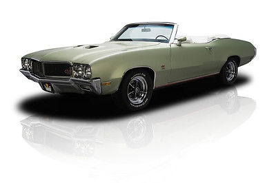 Buick : Skylark GS455 Documented Numbers-Matching GS455 Convertible 455/360 HP V8 TH400 3 Speed A/C