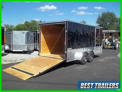 2016 Look 7 x 16 cargo motorcycle package enclosed trailer extra height loaded