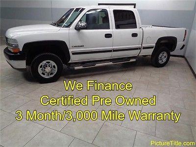 Chevrolet : Silverado 2500 LS Crew Cab 8.1 V8 02 silverado 2500 2 wd crew 8.1 vortec v 8 chrome wheel warranty we finance texas