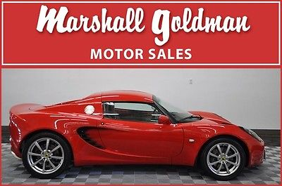 Lotus : Elise Base Convertible 2-Door 2009 lotus elise in ardent red with tan 11000 miles hard and soft top