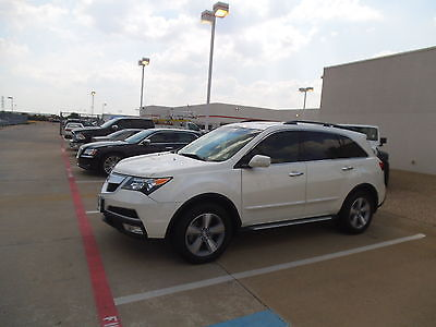 Acura : MDX AWD 4dr Tech Acura MDX AWD 4dr Tech 3.7L 4-Wheel  White Leather 3rd row seat Nav Sunroof