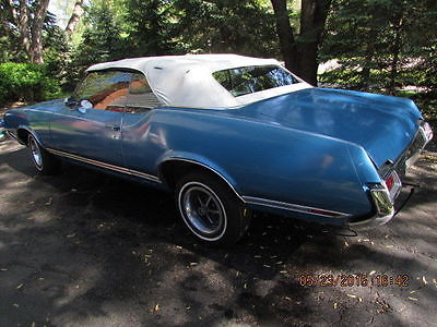 Oldsmobile : Cutlass Supreme 1971 cutlass supreme convertible blue ext intr whitetop 350 rocket v 8 116 k mi