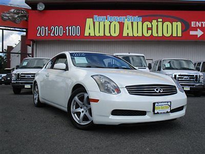 Infiniti : G35 2dr Coupe Automatic w/Leather 2 dr coupe automatic w leather infiniti g 35 coupe leather sunroof gasoline 3.5 l v