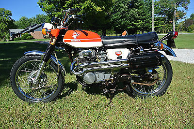 Honda : CL Honda CL350 K1 Scrambler 69/70 Daytona Orange