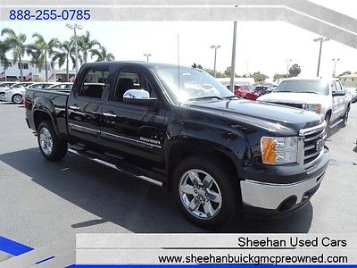 GMC : Sierra 1500 SLE Sexy Black Florida Driven Crew Cab w/Bedliner! 2013 gmc sierra 1500 sle black florida driven crew cab power auto air bedliner