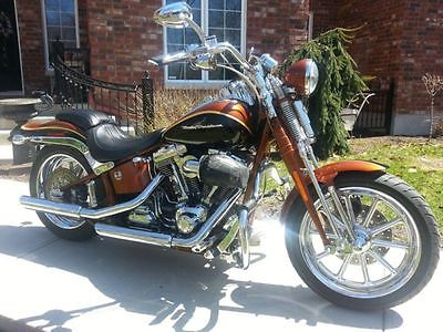 Harley-Davidson : Softail 2008 harley davidson cvo screamin eagle softail springer perfect like new
