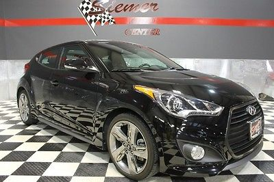 Hyundai : Veloster Turbo w/Black Int black, black leather,