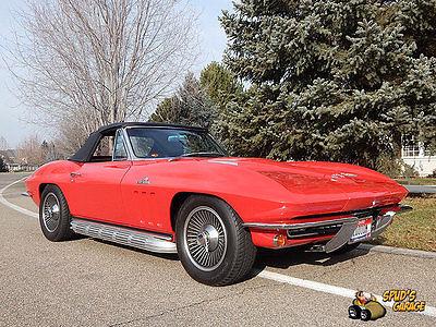Chevrolet : Corvette Stingray 427 L-36 1966 corvette stingray convertible 427 c 2 turbo jet 390 hp l 36 2 owner history