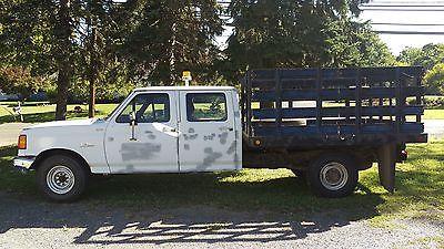 Ford : F-350 F 350 1990 f 350 crew cab stake body ford work truck